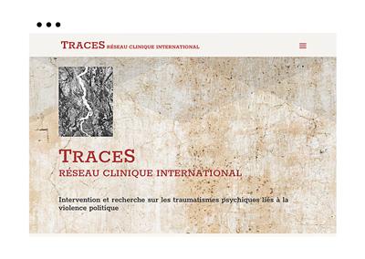 Création du site Traces réseau clinique international